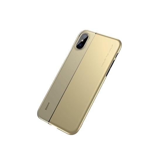 Изображение Baseus Half to Half Case iPhoneX Transparent ARAPIPHX-RY0V gold