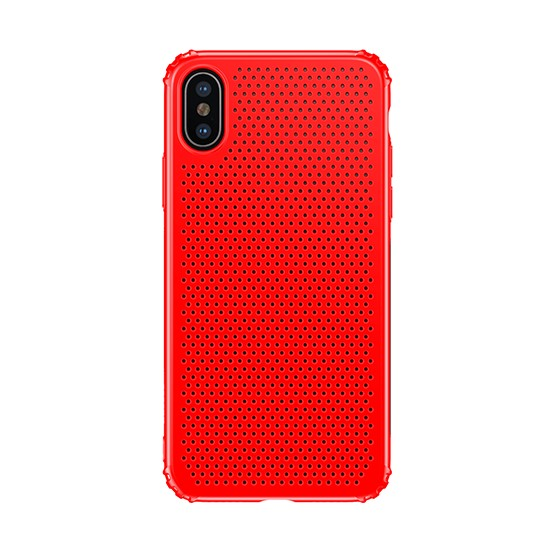 Изображение Baseus Small Hole Case Apple iPhone X WIAPIPHX-DD09 red