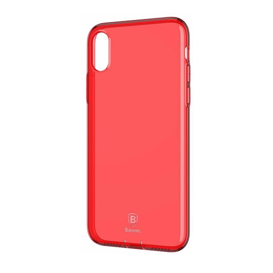 Изображение Baseus With Pluggy TPU Case Simple Series Apple iPhone X ARAPIPHX-A09 red