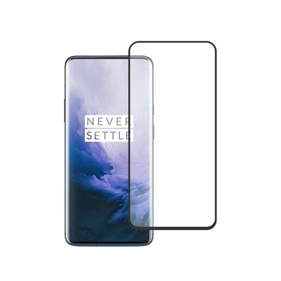 Glass Pro+ Full Screen Tempered Glass Oneplus 7 black