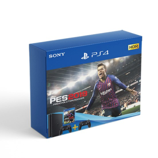 Sony PlayStation PS4 1TB Slim Bundle PES 2019 and 2 Controller