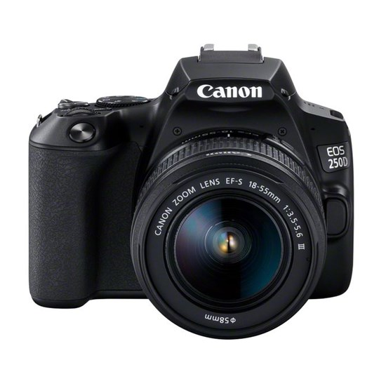 Canon EOS 250D EF-S 18-55 mm Black