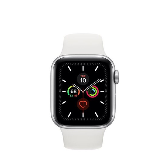 Apple Watch Series 5 GPS 40mm MWV62 Silver Aluminium Case With White Sport Band