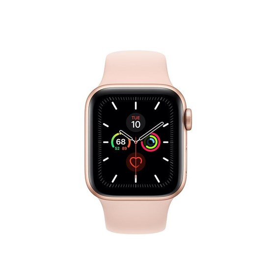 Apple Watch Series 5 GPS 44mm MWVE2 Gold Aluminium Case With Pink Sand Sport Band