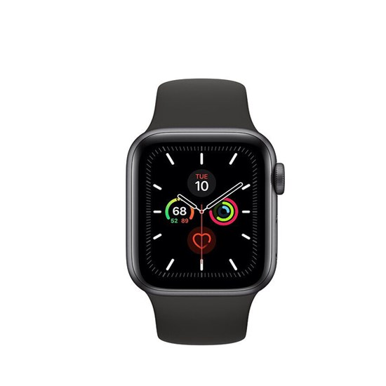 Apple Watch Series 5 GPS 44mm Space Grey Aluminium Case With Black Sport Band MWVF2