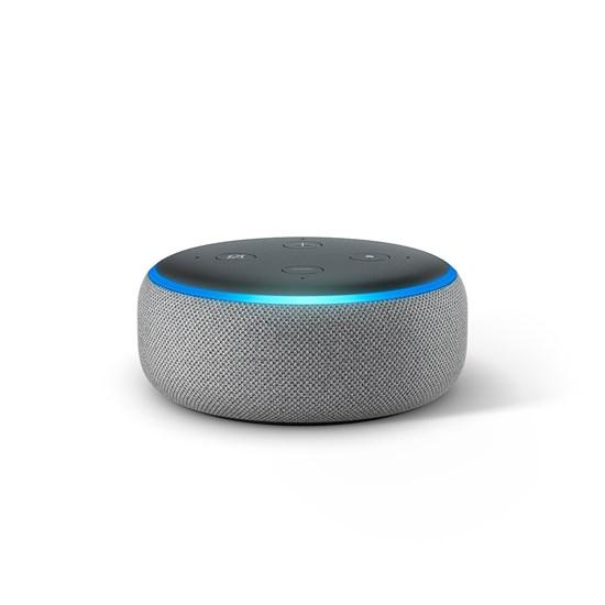 Amazon Echo Dot 3rd Gen healther grey
