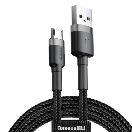 Изображение Baseus Cafule Cable Micro USB 2.4A 1m CAMKLF-BG1 grey/black