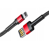 Изображение  Baseus Cafule Series Cable Special Edition Lightning 2m CALKLF-H91 red/black