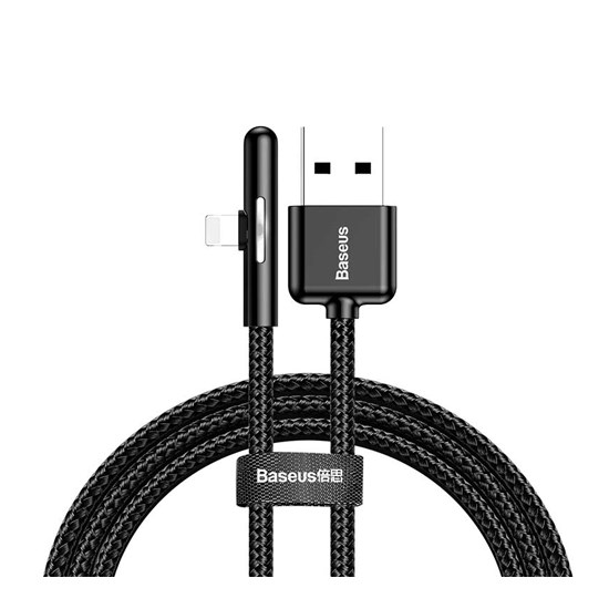 Изображение Baseus Iridescent Lamp Mobile Game USB Cable Lightning 1m CAL7C-A black