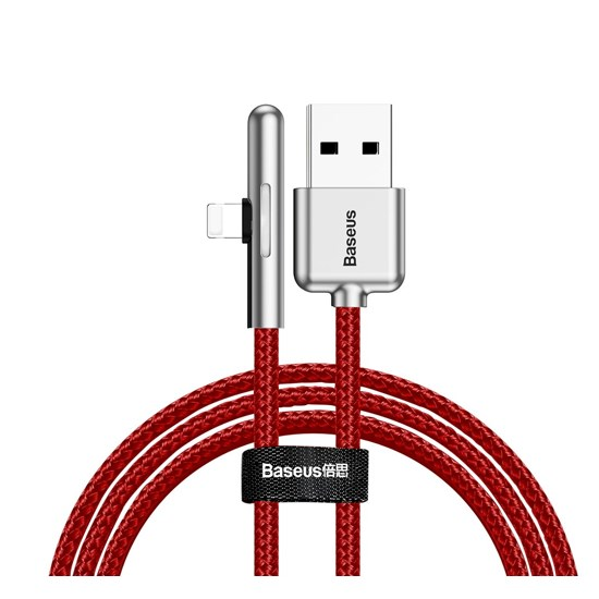 Baseus Iridescent Lamp Mobile Game USB Cable Lightning 1m CAL7C-A red