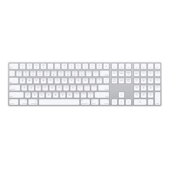 Изображение Apple Magic Keyboard with Numeric Keypad Wireless Rechargable Silver
