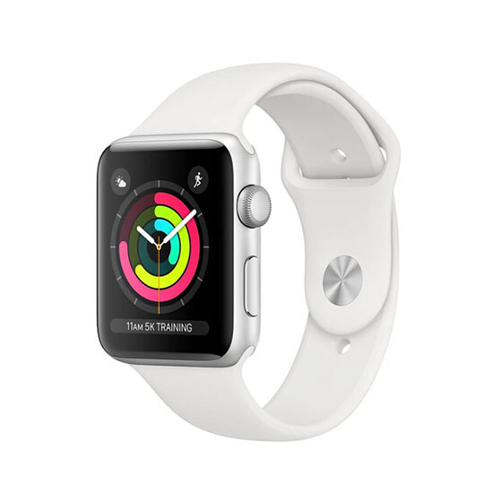 Изображение Apple Watch Series 3 MTEY2 38mm Silver Aluminum Case With White Sport Band